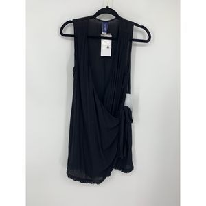 New swimsuits for all black wrap dress cover up 6